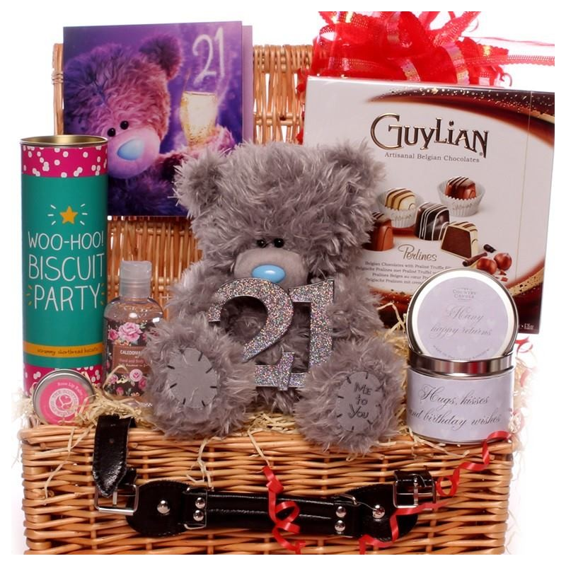21st Me To You Bear Hamper With Birthday Gifts