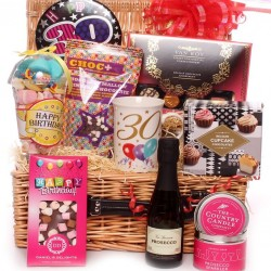 30th Birthday Hamper With Luxury Gifts And Prosecco