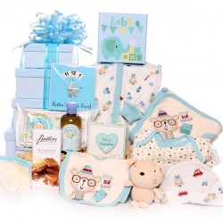 Baby boy hamper tower gift - Little bear travels.