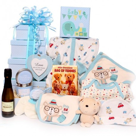 Luxury Baby Hamper Gift Tower Perfect For a Baby Shower.