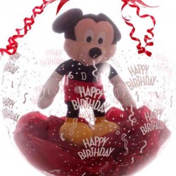 Stuffed Gift Balloon With Mickey Mouse Inside.