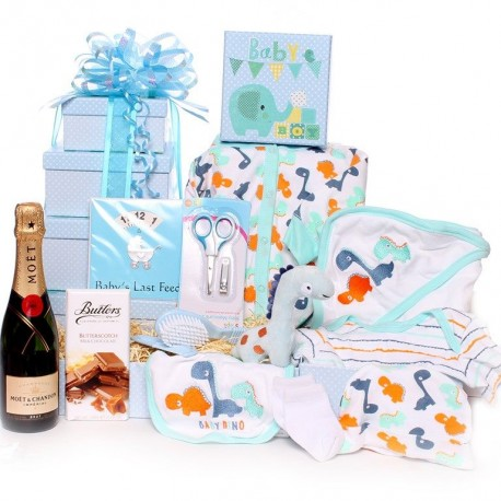 Champagne Baby Gift Tower Hamper.