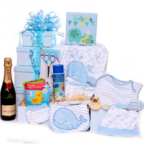 Baby Bath Time Gift Tower With Champagne