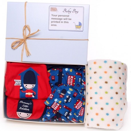 Baby Gift Box Baby Boy With Solider Outfit.