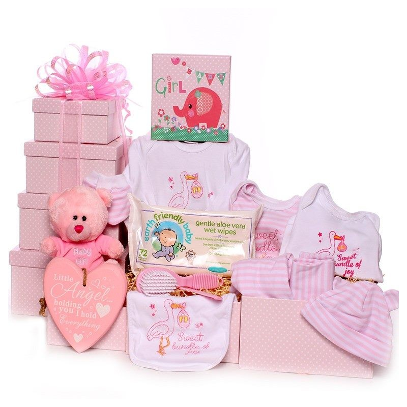 Quality Baby Gifts Uk : Baby girl gift tower good selection of quality gifts