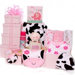 Baby Girl Hamper With Cow Design