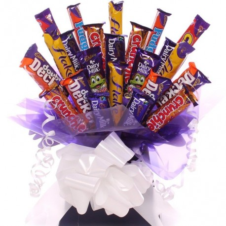Cadbury's Mixed Chocolate Bar Bouquet From Our Bargain Range.