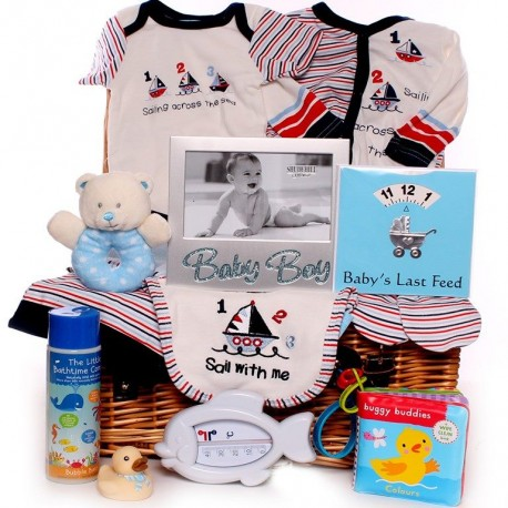 Baby Hamper - Sail With Me Boy