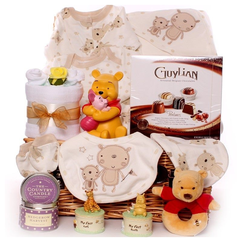 Luxury Baby Gift Hamper : Large unisex baby hamper disney winnie the pooh with gifts