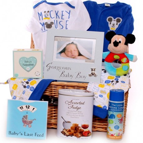 Mickey Mouse Baby Hamper Boy