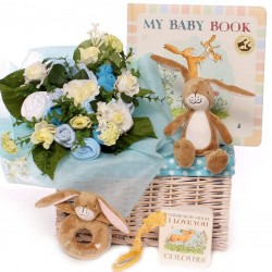 Guess How Much I Love You Baby Bouquet Gift Basket Baby Boy.
