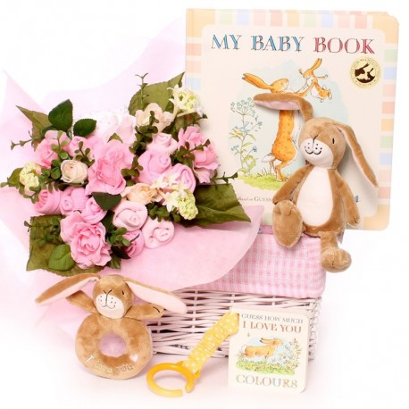 Baby bouquet gift basket Guess How Much I Love You.