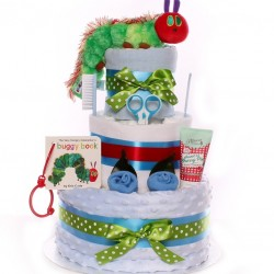 The Very Hungry Caterpillar Nappy Cake Baby Boy.