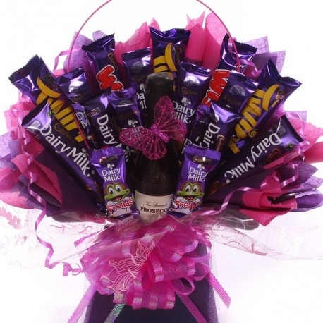 Prosecco and Cadbury's Chocolate Bouquet Gift.