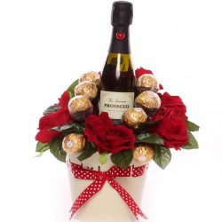 Prosecco and Ferrero Rocher Gift Pot