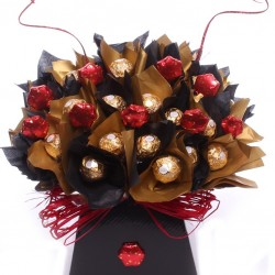 Ferrero Rocher Chocolate Bouquet With Milk Chocolate Stars.
