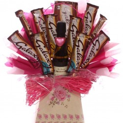 Prosecco and Galaxy Chocolate Bouquet Ideal Gift For Her