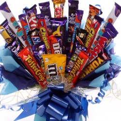 Extra Large Chocolate Bouquet for Boys Packed With Chocolate Bars.