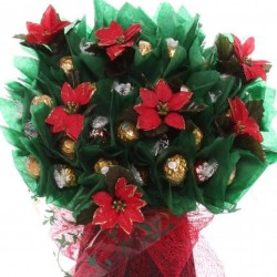 Poinsettia chocolate bouquet