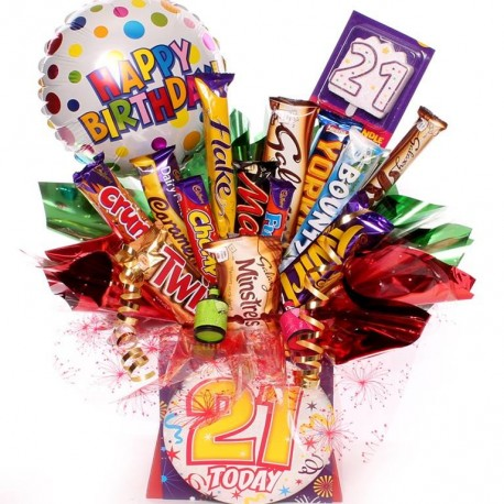 21st Birthday Chocolate Bouquet.