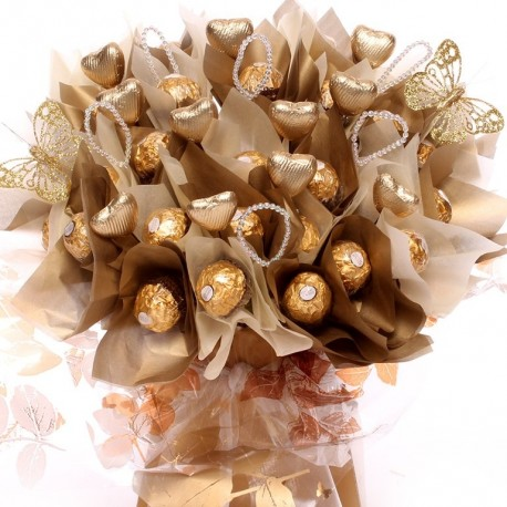 Luxury Ferrero Rocher Bouquet With Bead Embellishment.