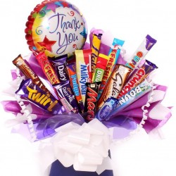 Thank you chocolate bar bouquet.