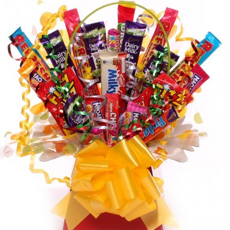Sweet Bouquet With An Assortment Of Sweets.