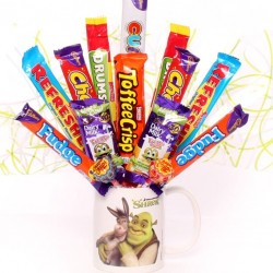 Shrek Mug with Chocolate Bouquet