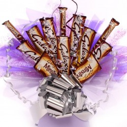 Galaxy Chocolate Bouquet Made From Delicious Galaxy Chocolate Bars.