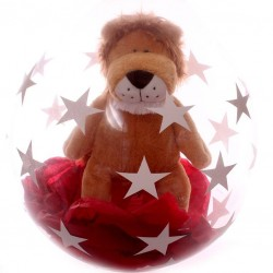 Soft Cuddly Lion Toy In A Balloon