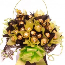 Chocolate Bouquet With Milk Chocolate Bees.