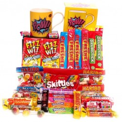 Pow mug with sweet hamper.