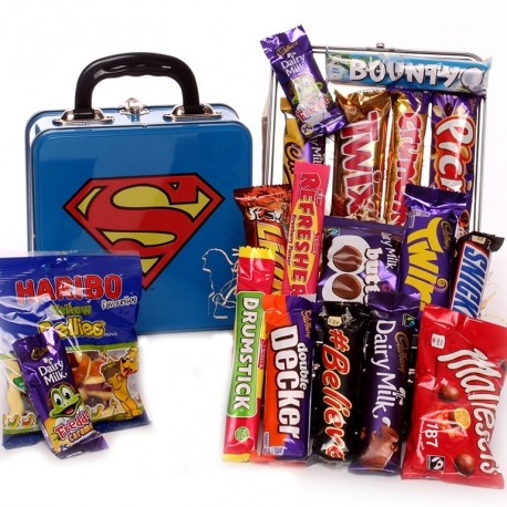 Superman Lunch Box - Filled with Sweets