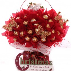 Christmas Berry Ferrero Rocher Chocolate Bouquet.