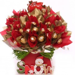 Ferrero Rocher Christmas Chocolate Bouquet - Snow.