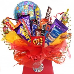 Happy Birthday Chocolate Bar Bouquet With Balloon