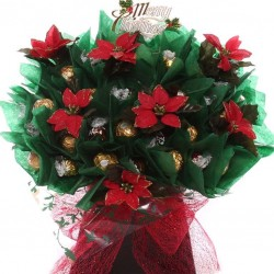 Christmas Poinsettia Ferrero Rocher Bouquet.