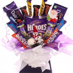 Cadbury Hero Chocolate Bouquet  Christmas Gift.