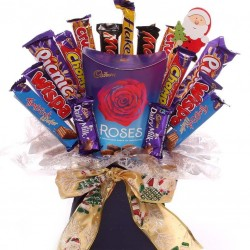 Christmas Cadbury Roses chocolate bouquet