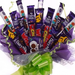 Large Chocolate Bouquet Made With Cadbury's Chocolate Bars.