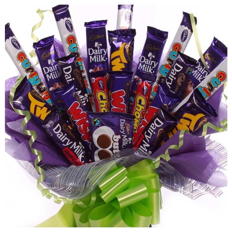 Large Chocolate Bar Bouquet Large Cadbury Chocolate