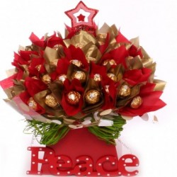 Peace Ferrero Rocher chocolate bouquet.