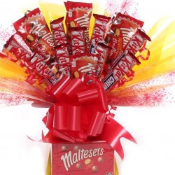 Maltesers and Kit Kat Chunky  Chocolate Bouquet.