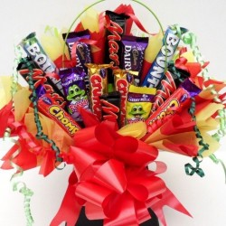 Chocolate Bouquet with Mars Bars And Chocolate Bars.