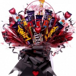Valentine's Day Chocolate Bar Bouquet.