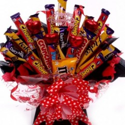 Luxury Mixed Chocolate Bar Bouquet.