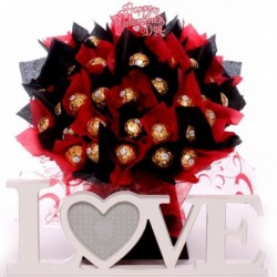 Love Photo Frame with Ferrero Rocher Bouquet.