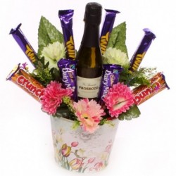 Prosecco and Cadbury Chocolate Flower Pot.