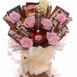Galaxy and Wine Chocolate Bouquet