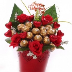 Hearts and Roses Ferrero Rocher Chocolate Gift Pot.